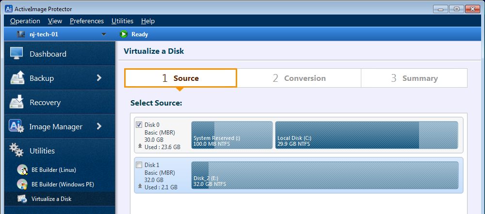 Virtualize a Physical Disk