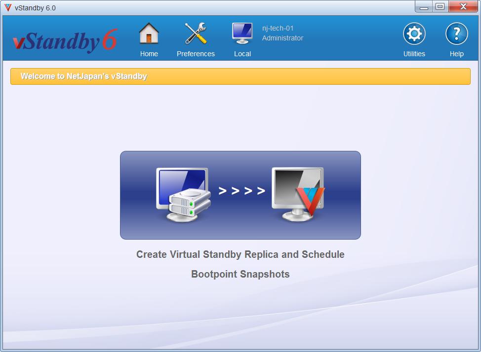 Create/Schedule Virtual Standby Replica